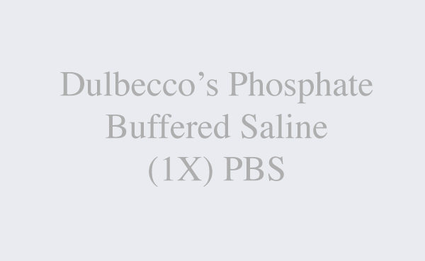 Dulbecco's Phosphate Buffered Saline (1X) PBS