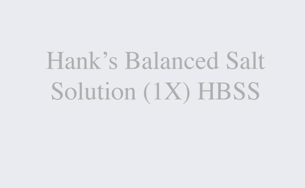 Hank's Balanced Salt Solution (1X) HBSS