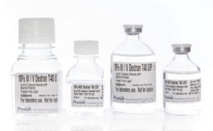 Dextran T40 in 0.9% NaCl